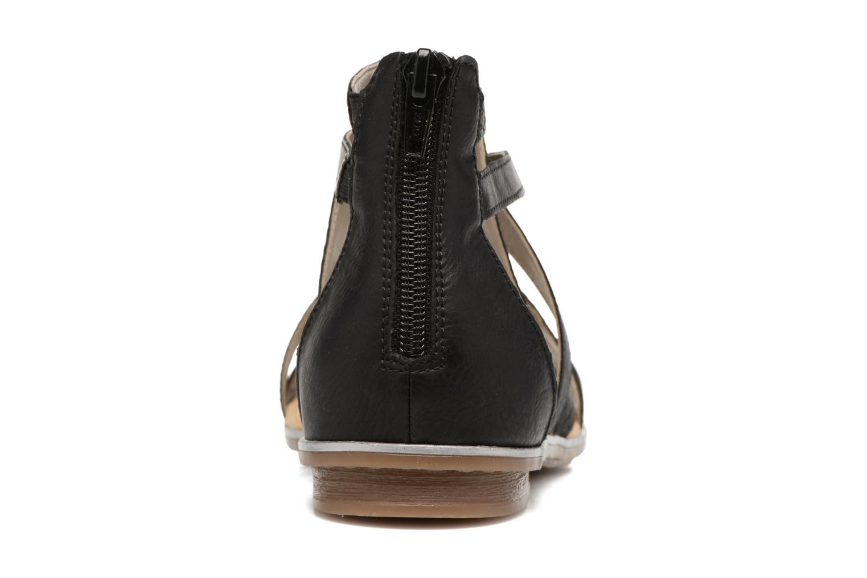 Sandales et nu-pieds Rieker Roos K0855 Noir vue droite