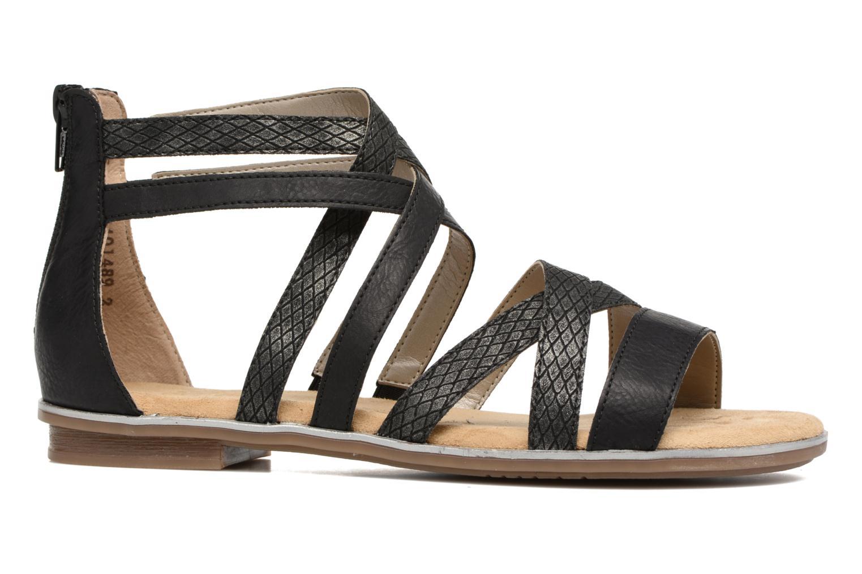Sandales et nu-pieds Rieker Roos K0855 Noir vue derrière