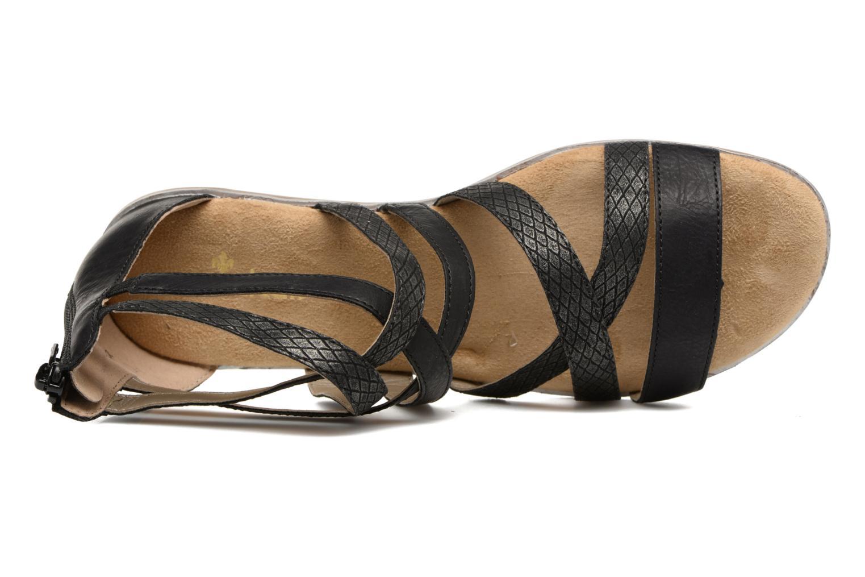 Sandales et nu-pieds Rieker Roos K0855 Noir vue gauche