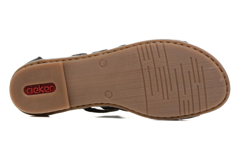 Sandales et nu-pieds Rieker Roos K0855 Noir vue haut