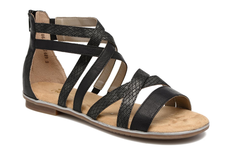 Sandales et nu-pieds Rieker Roos K0855 Noir vue détail/paire