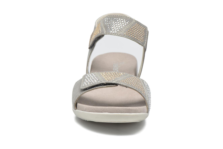 Sandales et nu-pieds Rieker Olaf K2269 Argent vue portées chaussures