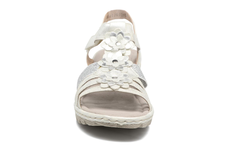 Sandales et nu-pieds Rieker Taco K3762 Blanc vue portées chaussures