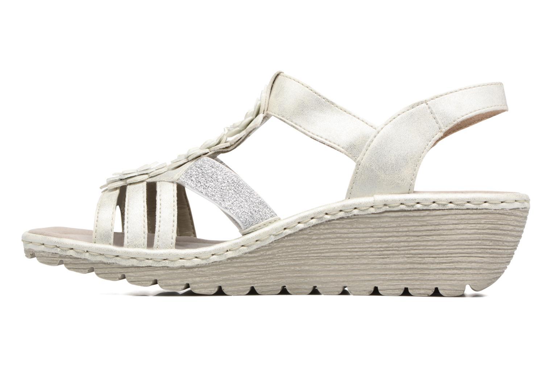 Sandales et nu-pieds Rieker Taco K3762 Blanc vue face
