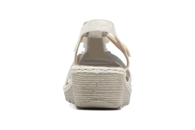 Sandales et nu-pieds Rieker Taco K3762 Blanc vue droite