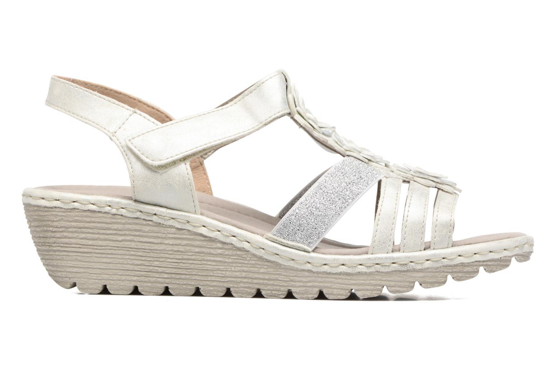 Sandales et nu-pieds Rieker Taco K3762 Blanc vue derrière