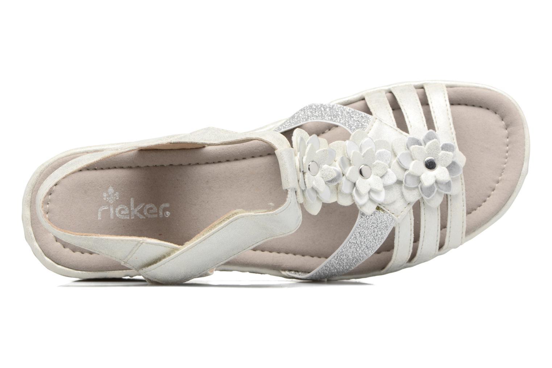 Sandales et nu-pieds Rieker Taco K3762 Blanc vue gauche