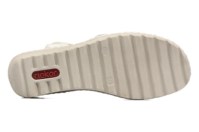 Sandales et nu-pieds Rieker Taco K3762 Blanc vue haut