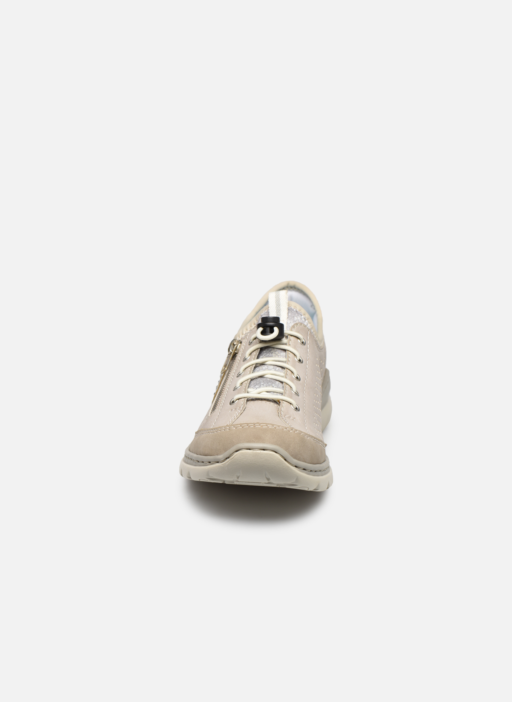 Baskets Rieker Lee 3266 Beige vue portées chaussures