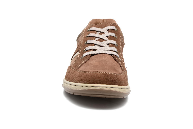 Baskets Rieker Krelis 17312 Marron vue portées chaussures