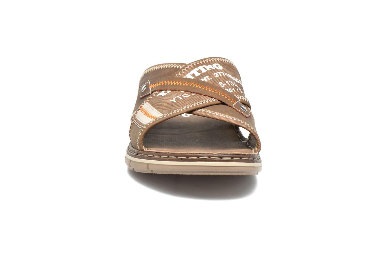 Sandales et nu-pieds Rieker Arjen 25168 Marron vue portées chaussures