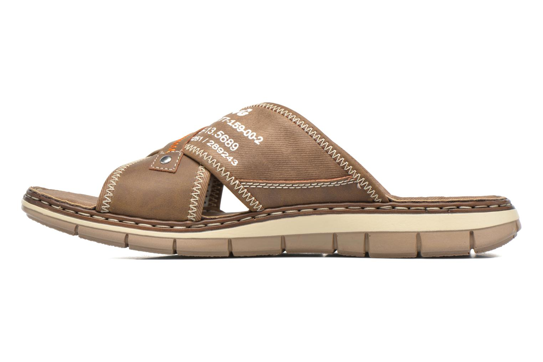 Sandales et nu-pieds Rieker Arjen 25168 Marron vue face