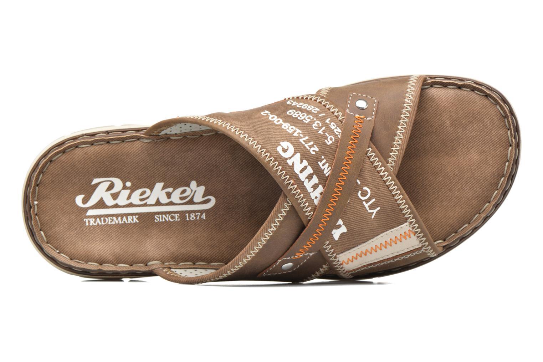 Sandales et nu-pieds Rieker Arjen 25168 Marron vue gauche