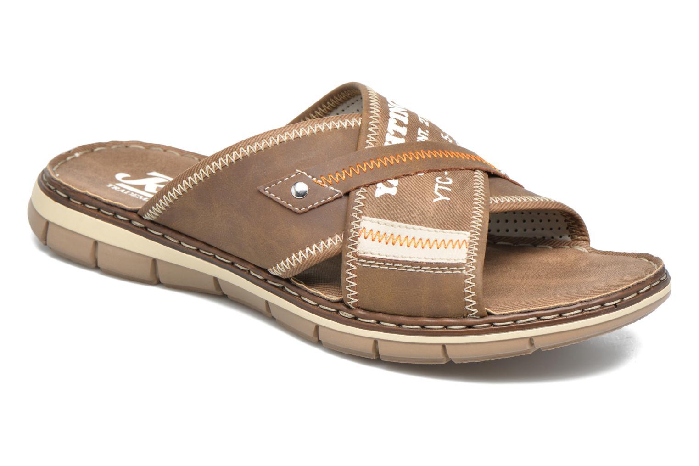 Sandales et nu-pieds Rieker Arjen 25168 Marron vue détail/paire
