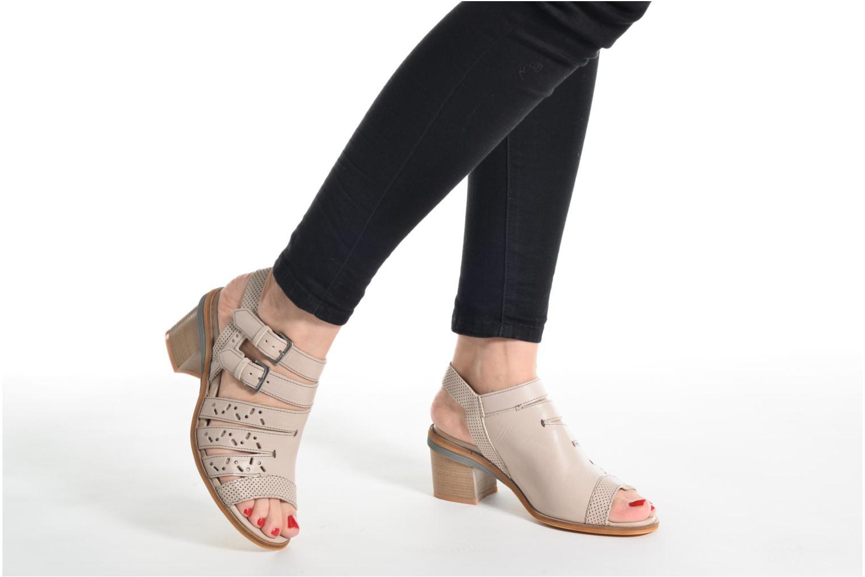 Sandales et nu-pieds Dkode Genna Beige vue bas / vue portée sac