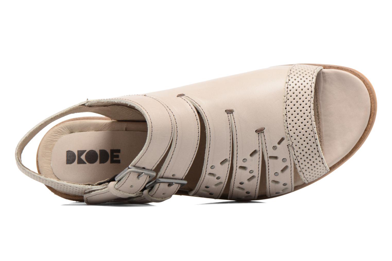 Sandales et nu-pieds Dkode Genna Beige vue gauche