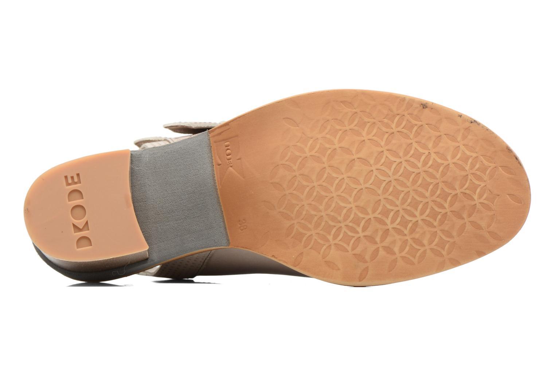 Sandales et nu-pieds Dkode Genna Beige vue haut