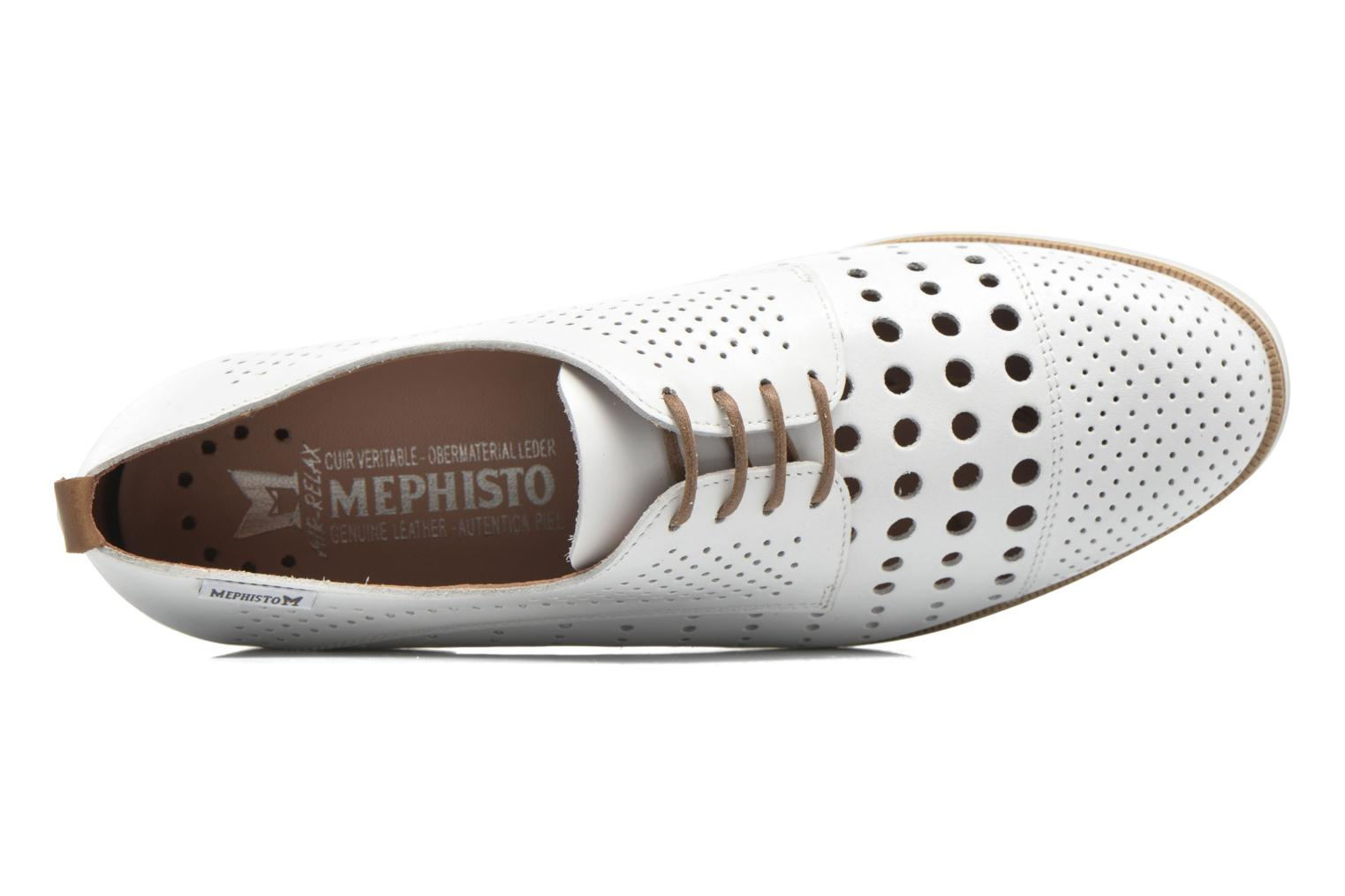 Chaussures à lacets Mephisto Pearl perf Blanc vue gauche