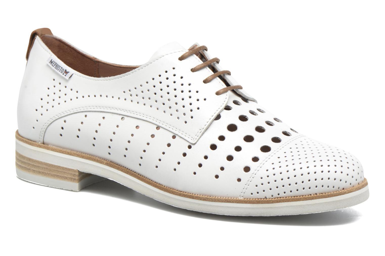 Chaussures à lacets Mephisto Pearl perf Blanc vue détail/paire