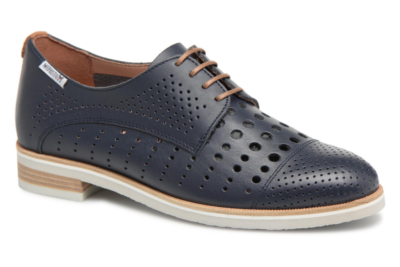 Chaussures à lacets Mephisto Pearl perf Bleu vue détail/paire