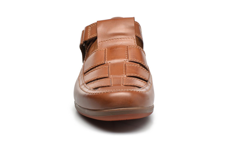 Chaussures à scratch Mephisto Rafael Marron vue portées chaussures