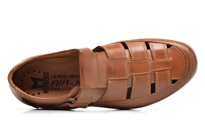 Chaussures à scratch Mephisto Rafael Marron vue gauche