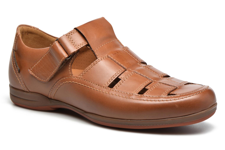 Chaussures à scratch Mephisto Rafael Marron vue détail/paire
