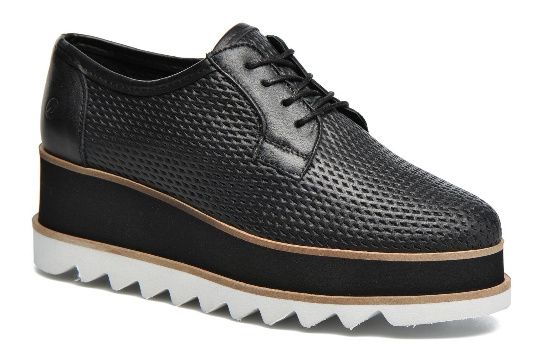 Snøresko Bronx Bemmax Sort detaljeret billede af skoene