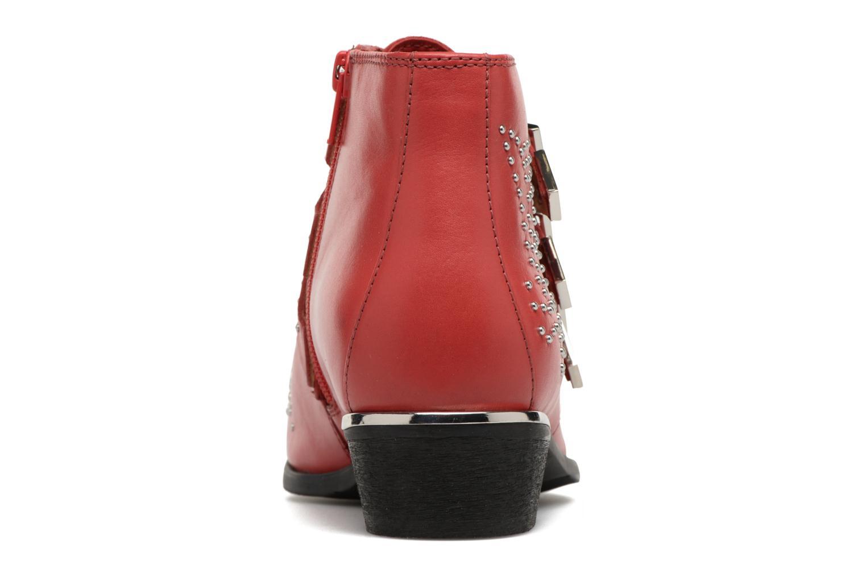 Bottines et boots Bronx Brezax Rouge vue droite