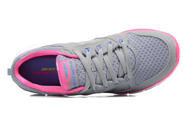 Scarpe sportive Skechers Flex Appeal Adaptable Grigio immagine sinistra