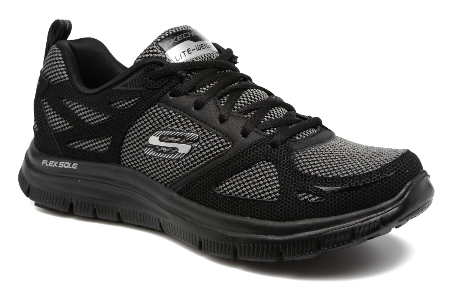 Sportssko Skechers Flex Advantage First Team Sort detaljeret billede af skoene