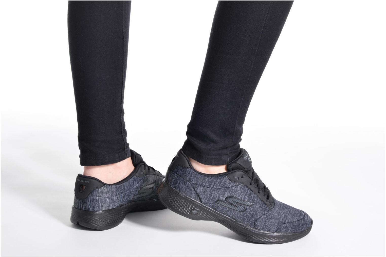 Sneakers Skechers GO Walk 4 serenity Nero immagine dal basso