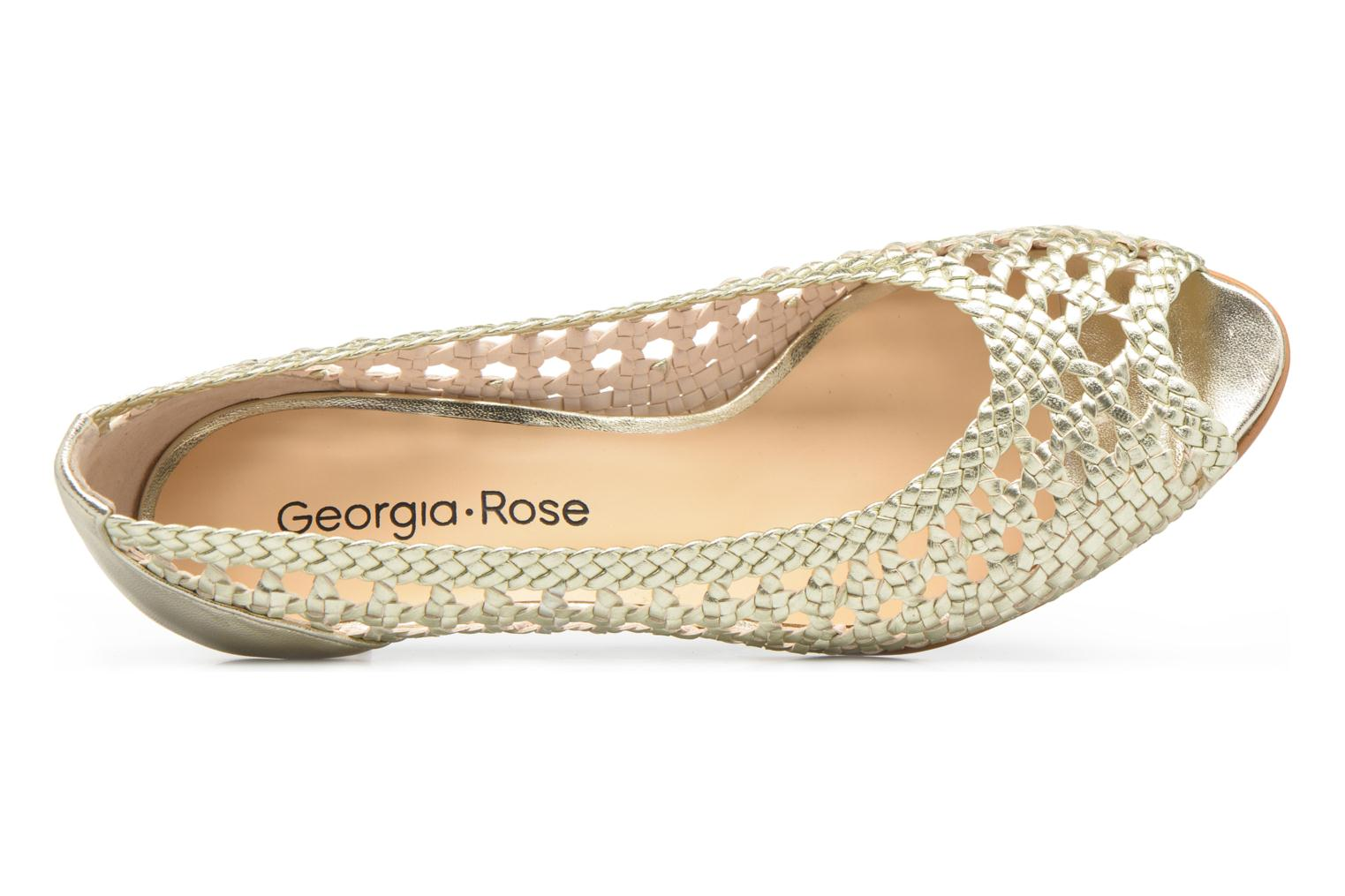 High heels Georgia Rose Tressa Bronze and Gold view from the left