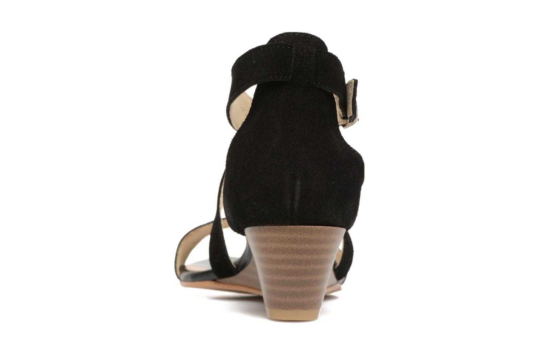 Sandales et nu-pieds Georgia Rose Anacale Noir vue droite