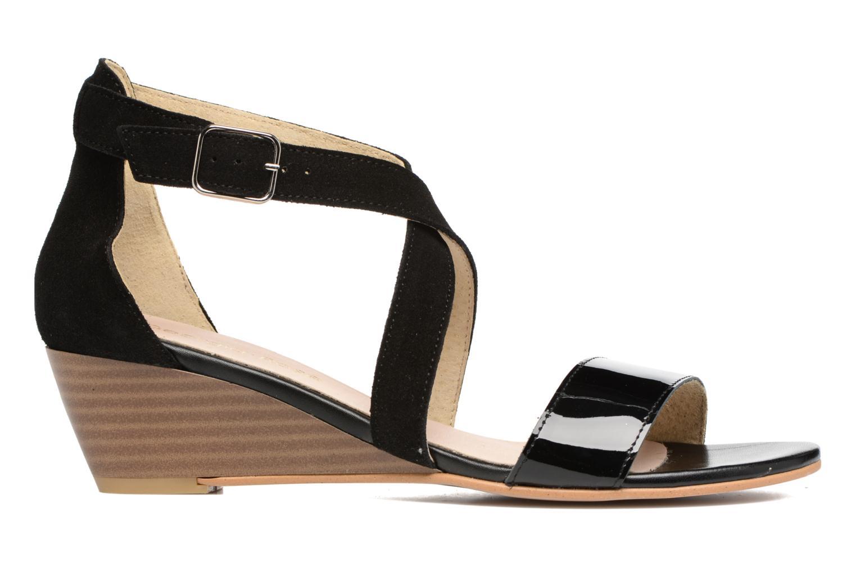 Sandales et nu-pieds Georgia Rose Anacale Noir vue derrière