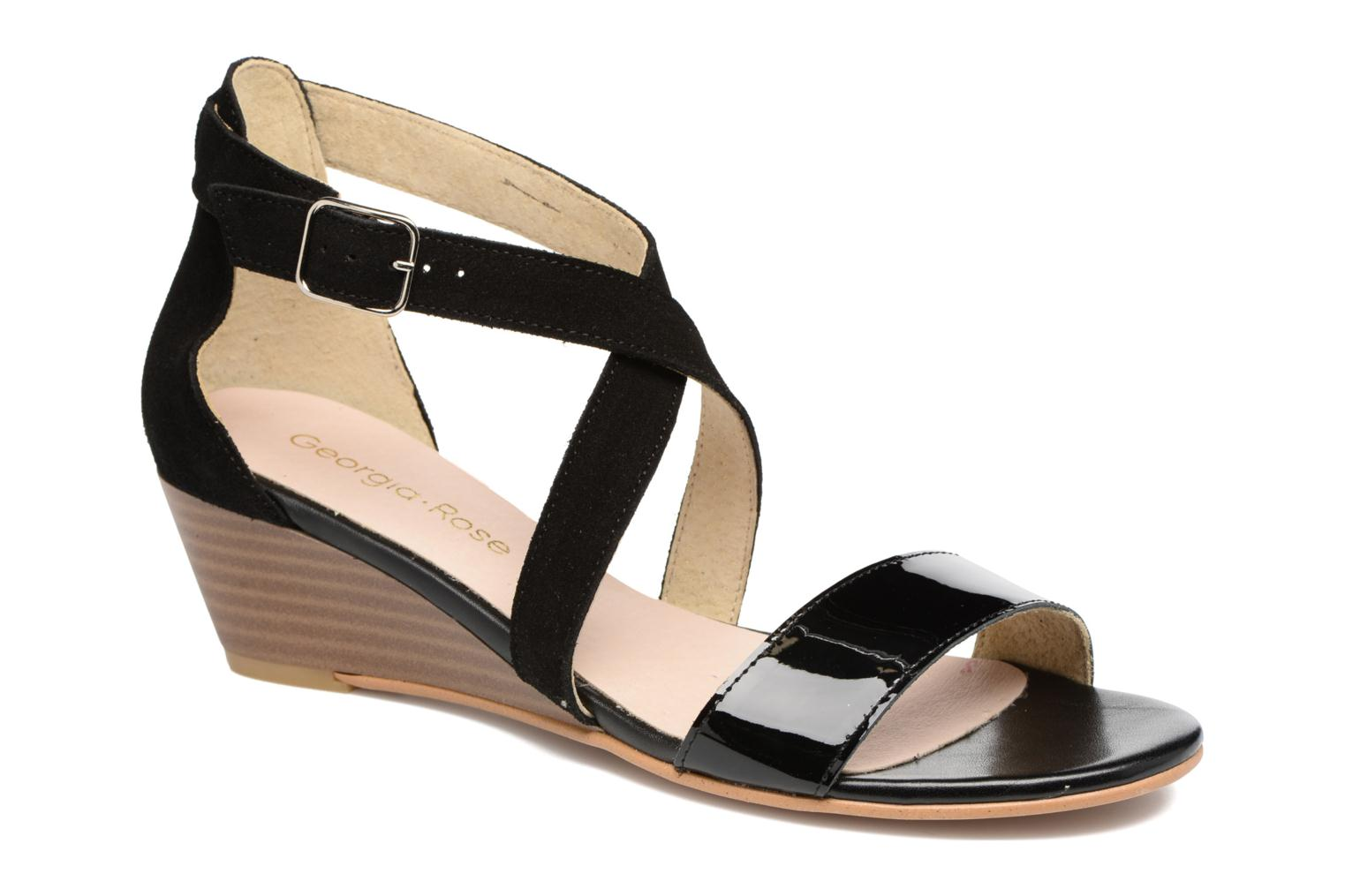 Sandals Georgia Rose Anacale Black detailed view/ Pair view