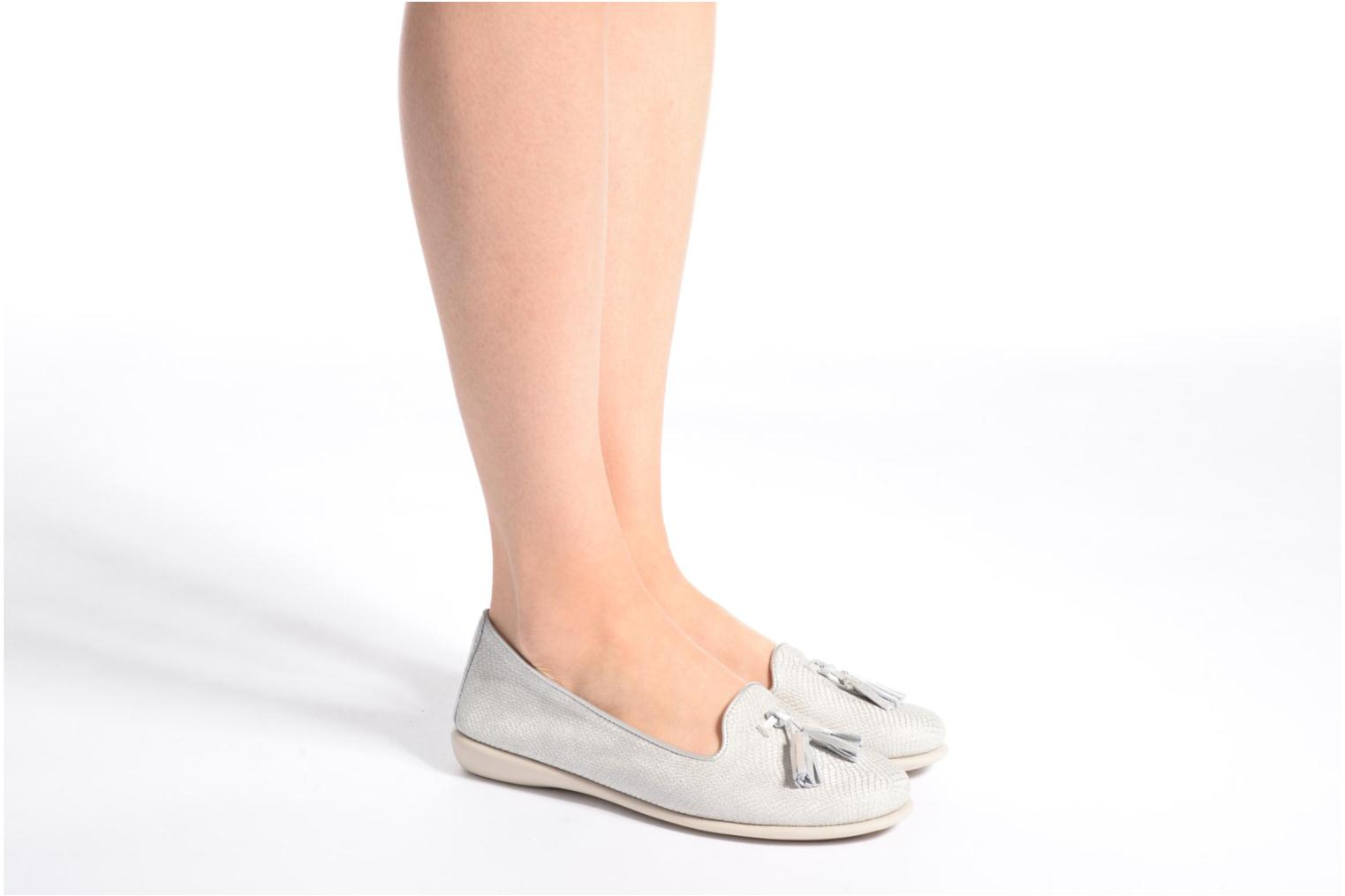 Loafers The Flexx Miss Take Silver view from underneath / model view
