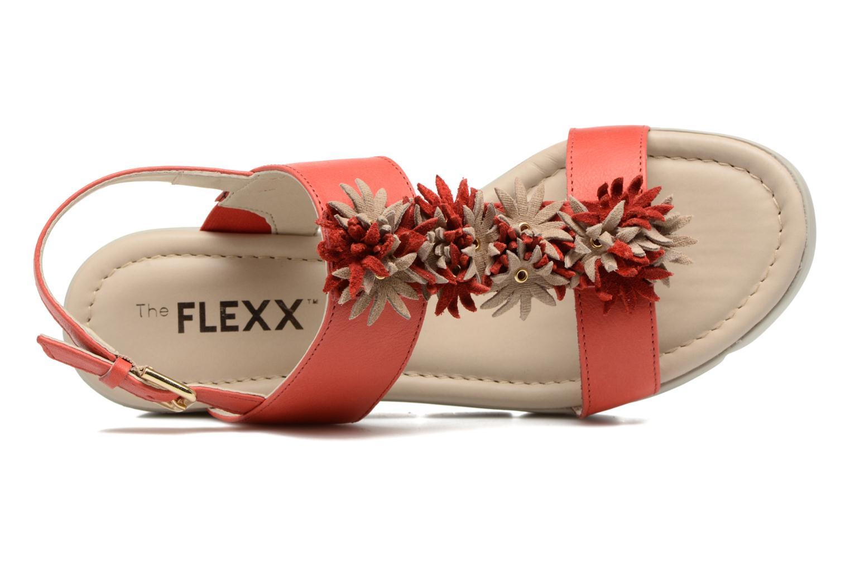 Sandales et nu-pieds The Flexx Emma Rouge vue gauche