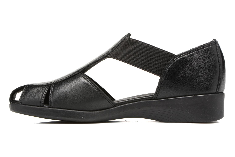 Sandalen Aerosoles 4Give schwarz ansicht von vorne