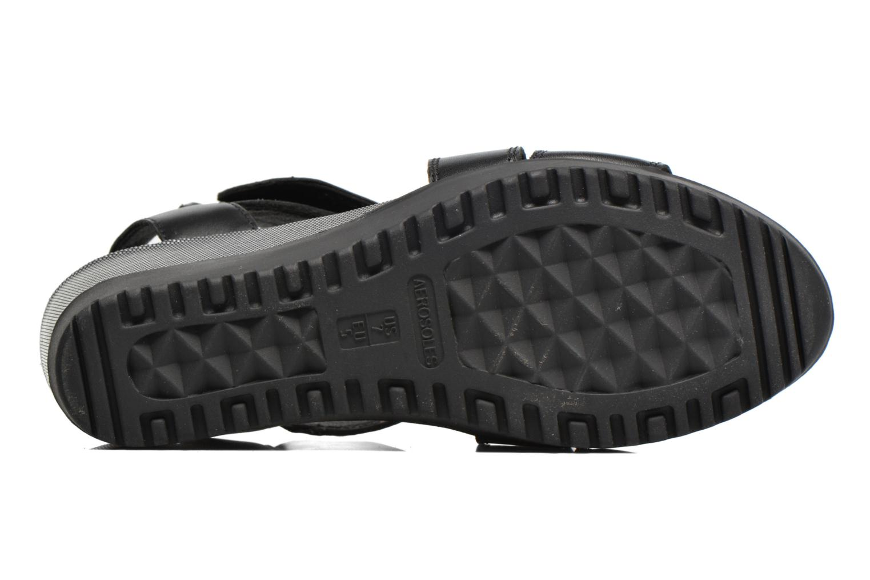 Sandales et nu-pieds Aerosoles Let's Go Noir vue haut