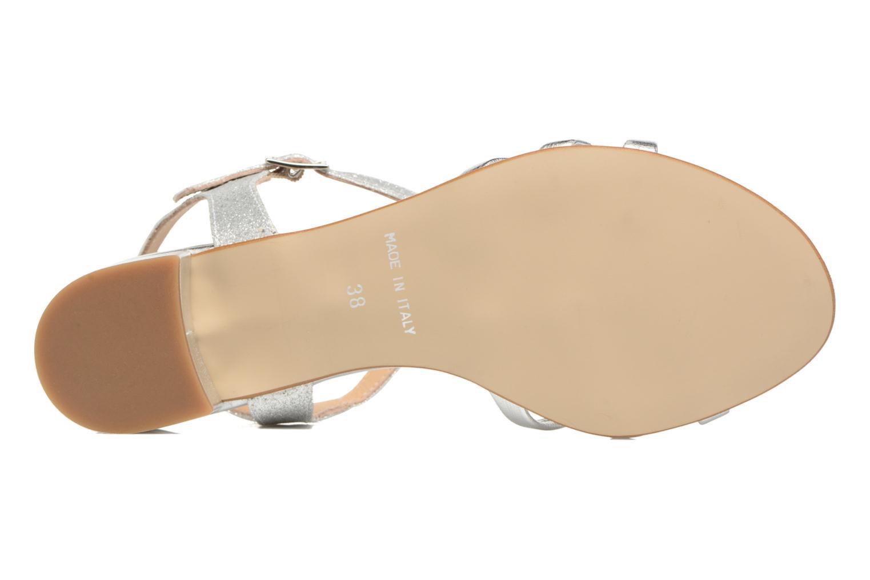 Sandales et nu-pieds Georgia Rose Lumitre Argent vue haut