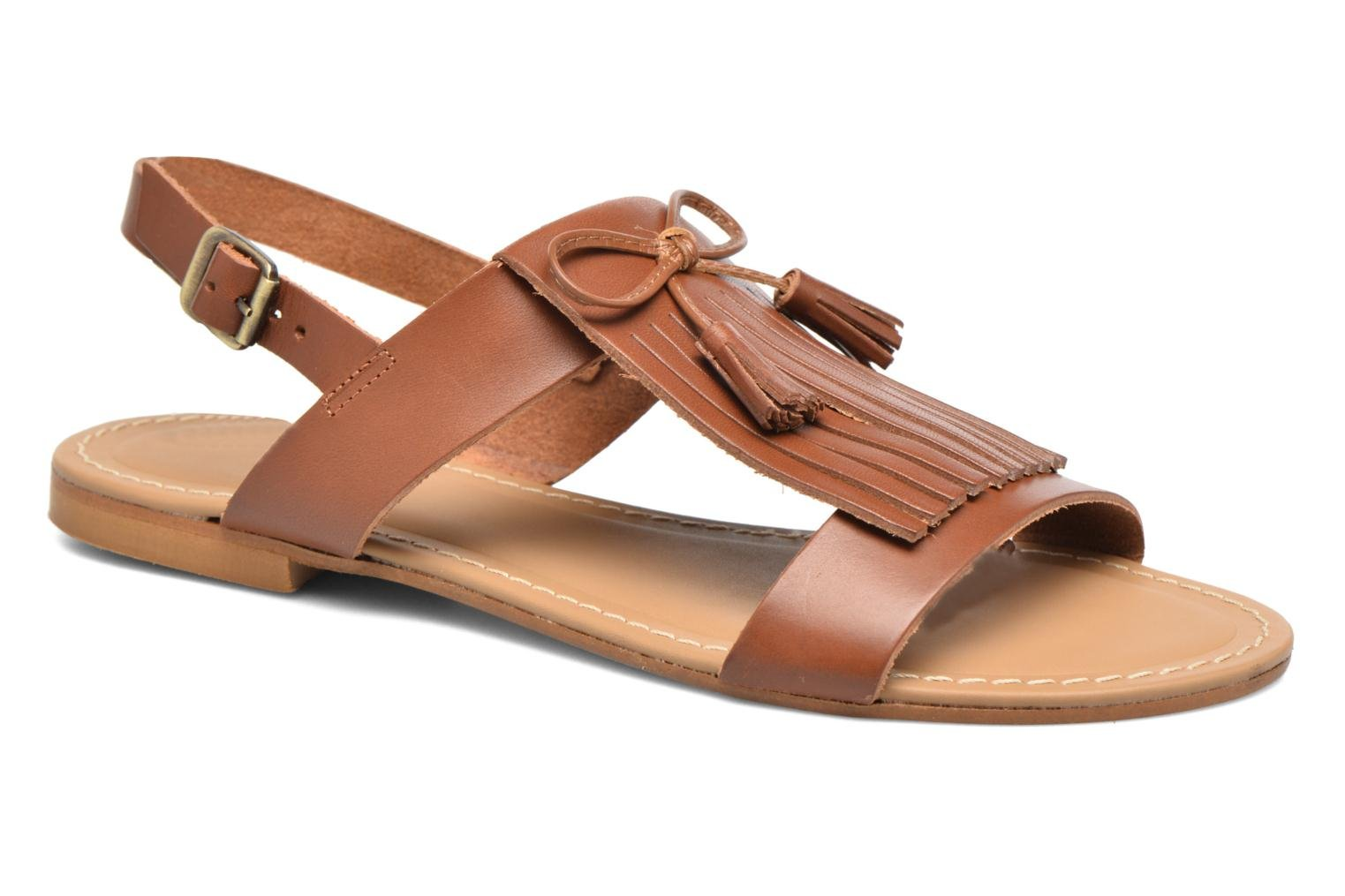 Sandals Georgia Rose Lupatte Brown detailed view/ Pair view