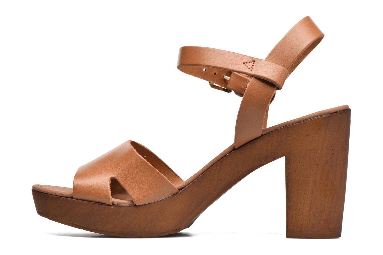 Sandali e scarpe aperte Georgia Rose Dobou Marrone immagine frontale