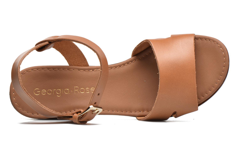Sandali e scarpe aperte Georgia Rose Dobou Marrone immagine sinistra