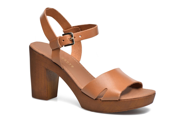 Sandaler Georgia Rose Dobou Brun detaljeret billede af skoene