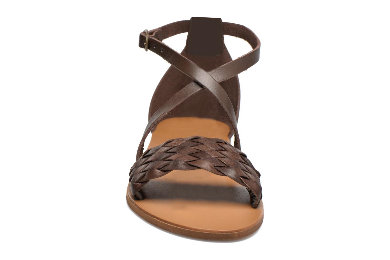 Sandales et nu-pieds Georgia Rose Dotresse Marron vue portées chaussures