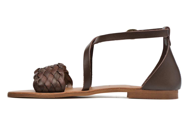 Sandales et nu-pieds Georgia Rose Dotresse Marron vue face