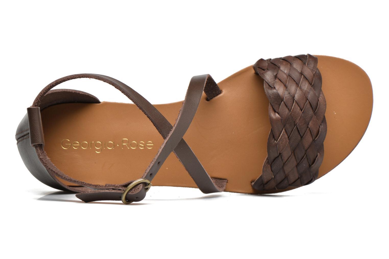 Sandales et nu-pieds Georgia Rose Dotresse Marron vue gauche