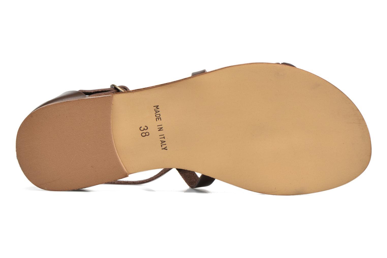 Sandales et nu-pieds Georgia Rose Dotresse Marron vue haut
