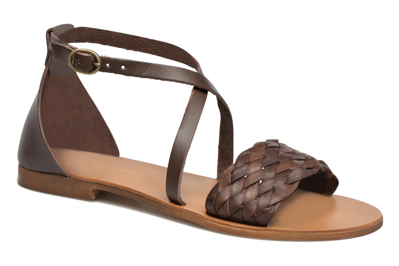 Sandales et nu-pieds Georgia Rose Dotresse Marron vue détail/paire